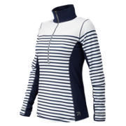 NB J.Crew In Transit Printed Half Zip, Plaster Sprint Stripe with Navy