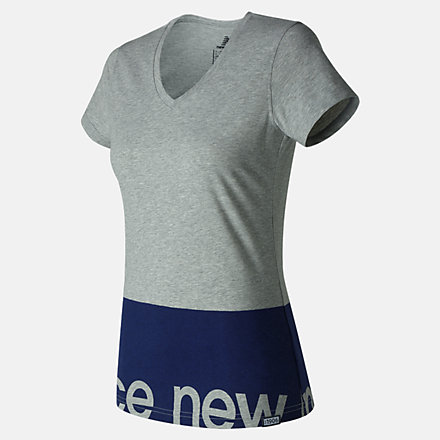 New Balance Classic V Neck Tee, WT71551AG image number null