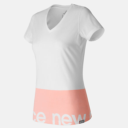 New Balance Classic V Neck Tee, WT71551WT image number null