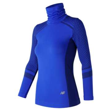 New Balance M4M Seamless Heat Long Sleeve, Vivid Cobalt Blue