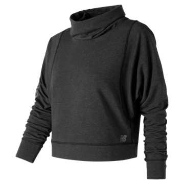 New Balance Intensity Funnel Neck, Black Heather