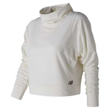 New Balance Intensity Funnel Neck, Sea Salt Heather