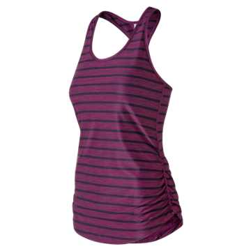 New Balance Transform Perfect Printed Tank, Claret Heather with Pigment