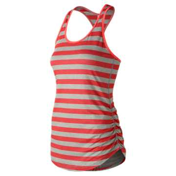 New Balance Transform Perfect Printed Tank, Vivid Coral with Oatmeal Heather