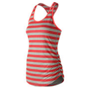 NB Transform Perfect Printed Tank, Vivid Coral with Oatmeal Heather