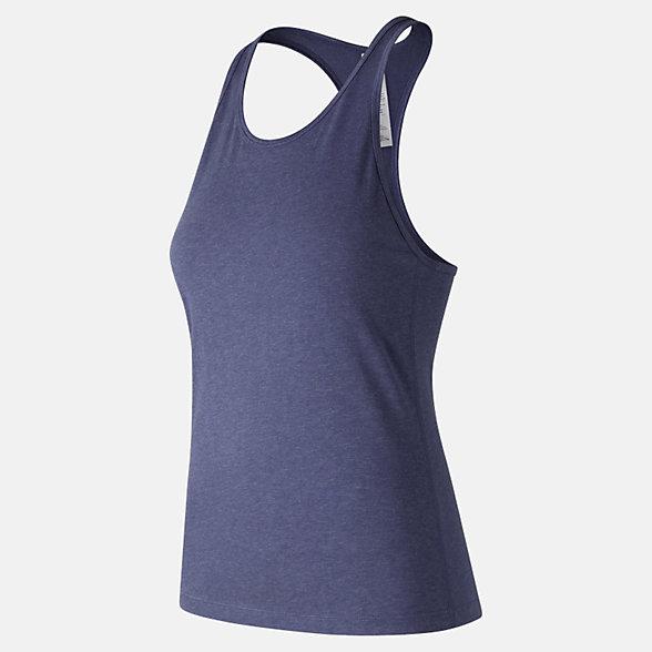 New Balance Camisole à dos croisé technique chinée, WT73125PGH