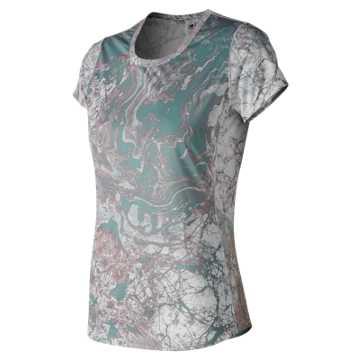 New Balance Accelerate Printed Short Sleeve, Himalayan Pink