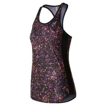 New Balance Accelerate Printed Tank, Black Multi