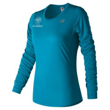 New Balance Brooklyn Half Training Accelerate Long Sleeve, Maldives Blue