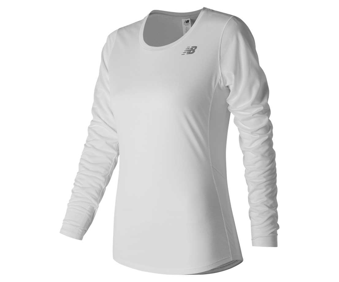 NB Accelerate Long Sleeve, White