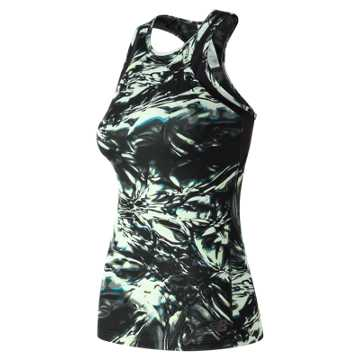 New Balance Anticipate Printed Tank, Black Thermal Wrapping