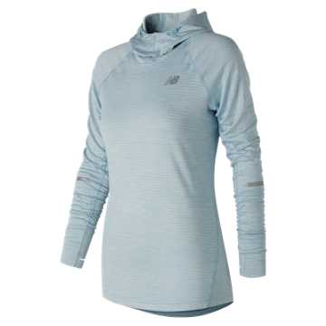 New Balance NB Heat Hoodie, Clear Sky Heather