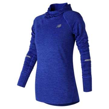 New Balance NB Heat Hoodie, Vivid Cobalt Blue Heather