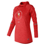 NB NYC Marathon NB Heat Hoodie, Energy Red Heather