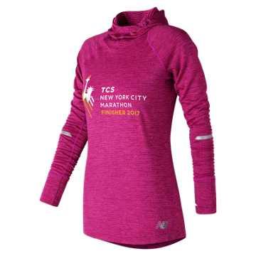 New Balance NYC Marathon Finisher NB Heat Hoodie, Poisonberry Heather