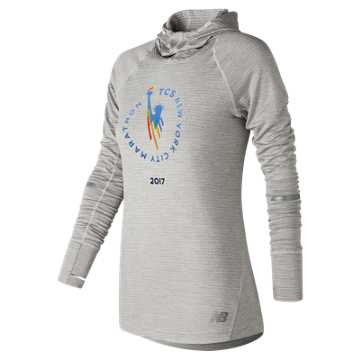 New Balance NYC Marathon NB Heat Hoodie, Sea Salt Heather