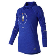 NB NYC Marathon NB Heat Hoodie, Vivid Cobalt Blue Heather