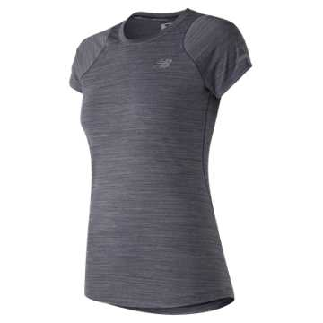 New Balance Seasonless Short Sleeve, Elderberry Heather
