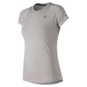 New Balance Seasonless Short Sleeve, Overcast Heather