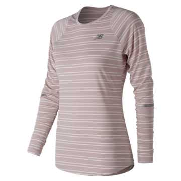 New Balance Seasonless Long Sleeve, Conch Shell Heather