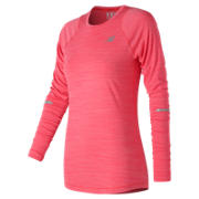 NB Seasonless Long Sleeve, Energy Red Heather
