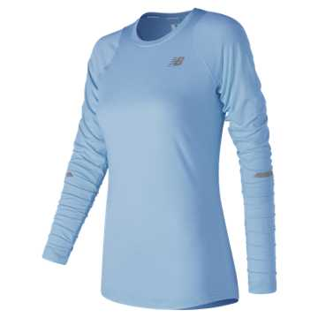 New Balance Seasonless Long Sleeve, Clear Sky Heather