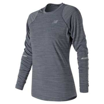 New Balance Seasonless Long Sleeve, Pigment Heather
