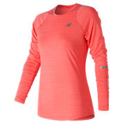 New Balance Seasonless Long Sleeve, Vivid Coral