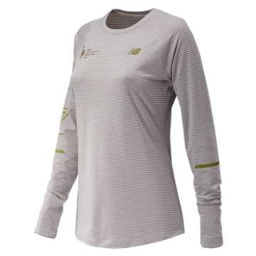 New Balance NYC Marathon Seasonless Long Sleeve, Overcast Heather