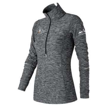 New Balance NYC Marathon NYC In Transit Half Zip, Black with White