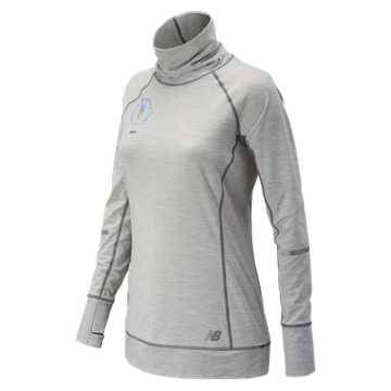 New Balance NYC Marathon In Transit Tunic Top, Sea Salt Heather