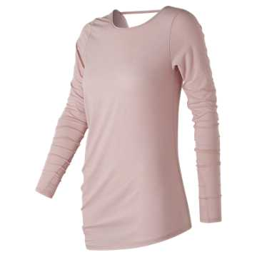 New Balance Long Sleeve Layering Tee, Faded Rose
