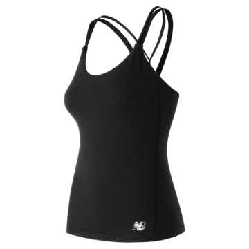 New Balance Strappy Bra Tank, Black