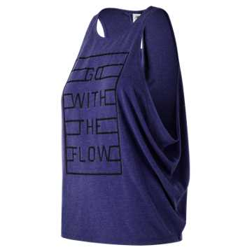 New Balance Graphic Wedge Layering Tank, Tempest Heather