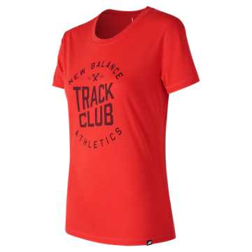 New Balance NB Track Club Tee, Energy Red