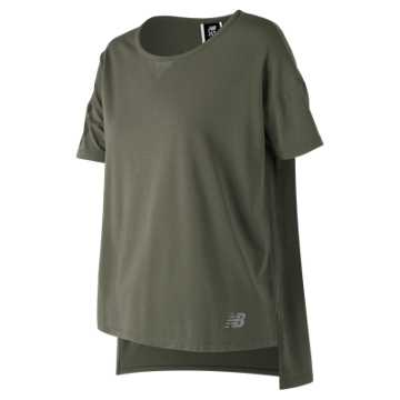 New Balance 247 Sport Boxy Tee, Military Foliage Green