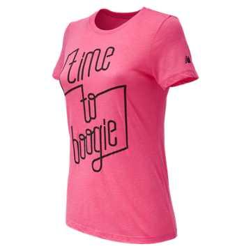 New Balance Bronx 10 Mile Boogie Down Puff Tee, Pink