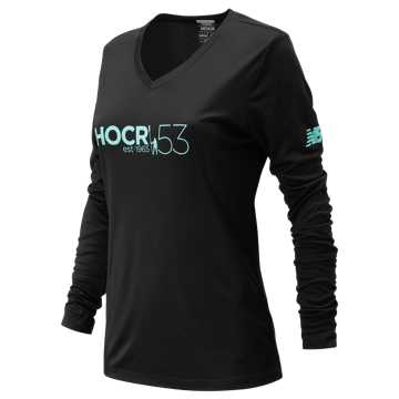 New Balance HOCR Long Sleeve Tech, Black