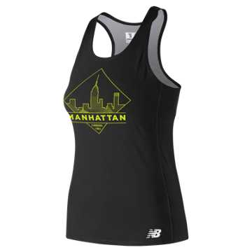 New Balance 5th Ave Manhattan Singlet, Black