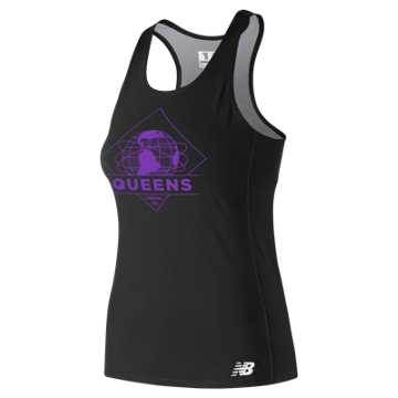 New Balance 5th Ave Queens Singlet, Black