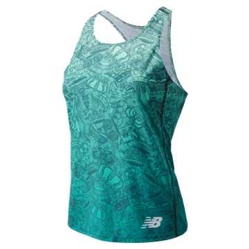 New Balance Brooklyn Half Singlet, Teal
