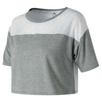 New Balance Determination Crop Top, Athletic Grey