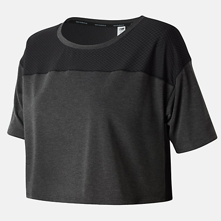 New Balance Determination Crop Top, WT81105BK image number null