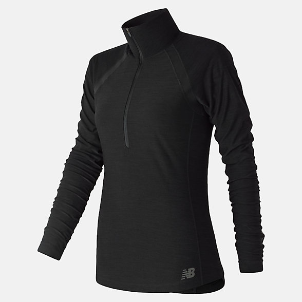 New Balance Anticipate Half Zip, WT81114BK