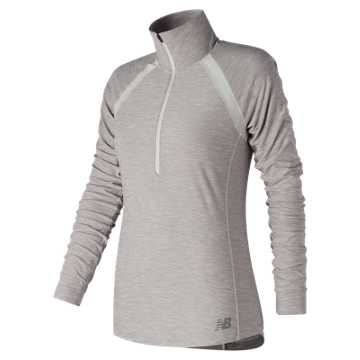 New Balance Anticipate Half Zip, Sea Salt Heather