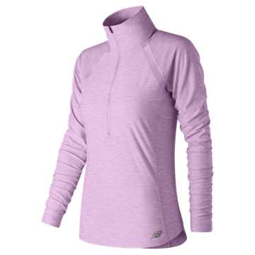 New Balance Anticipate Half Zip, Violet Glo Heather