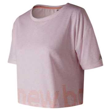 New Balance Graphic Heather Tech Crop, Himalayan Pink Heather