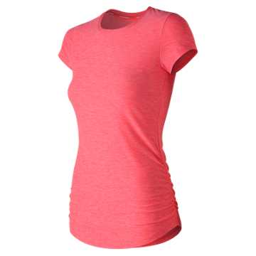New Balance Transform Perfect Tee, Pink Zing Heather