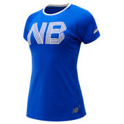 NB Printed NB Ice 2.0 Short Sleeve, UV Blue