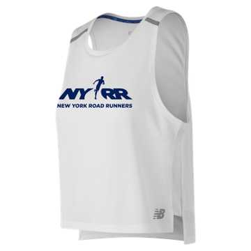 New Balance Run 4 Life NB Ice 2.0 Crop Tank, White